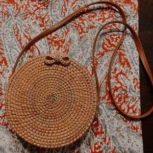 Boho Round Basket Purse